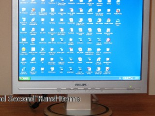 Silver PHILIPS Wide Screen Monitor 17
